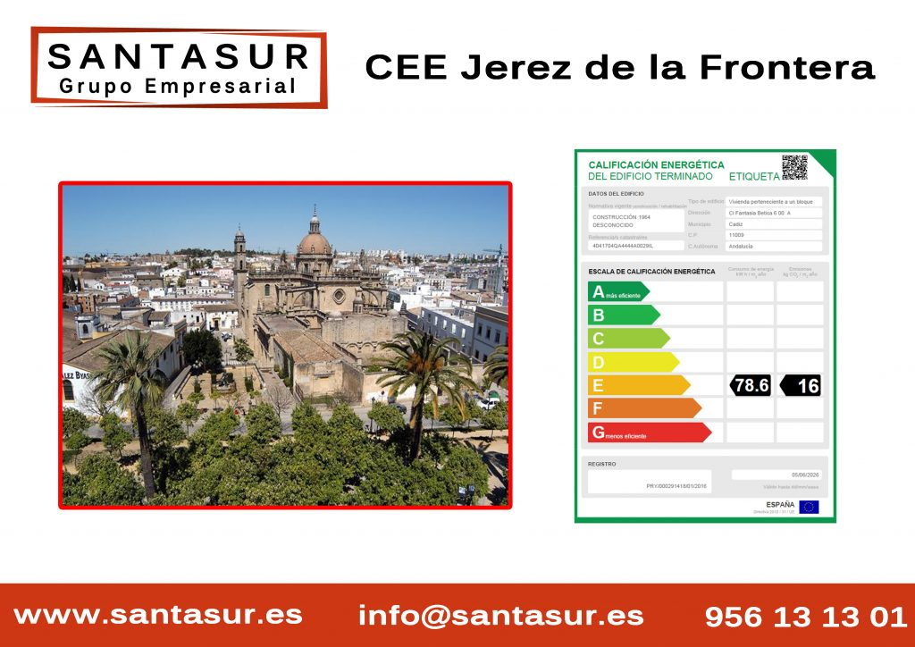 Certificado Energético Jerez de la frontera al Mejor Precio