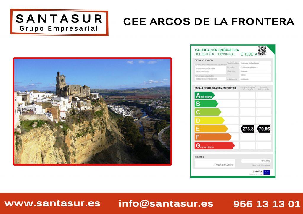 Certificado Energético Arcos de la Frontera al Mejor Precio