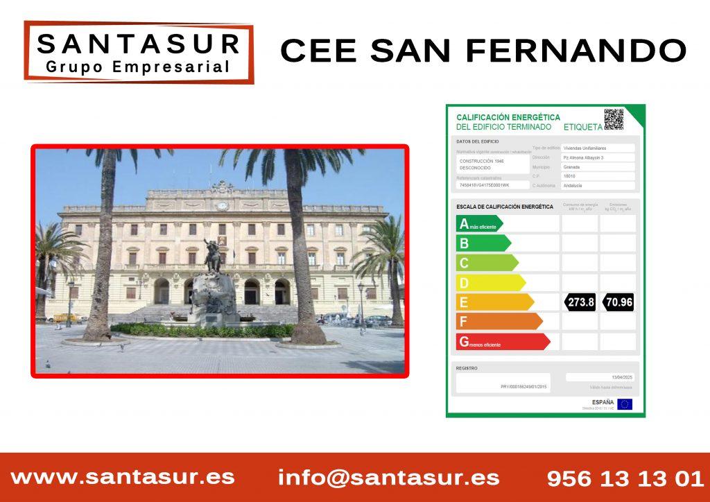 Certificado Energético San Fernando al Mejor Precio