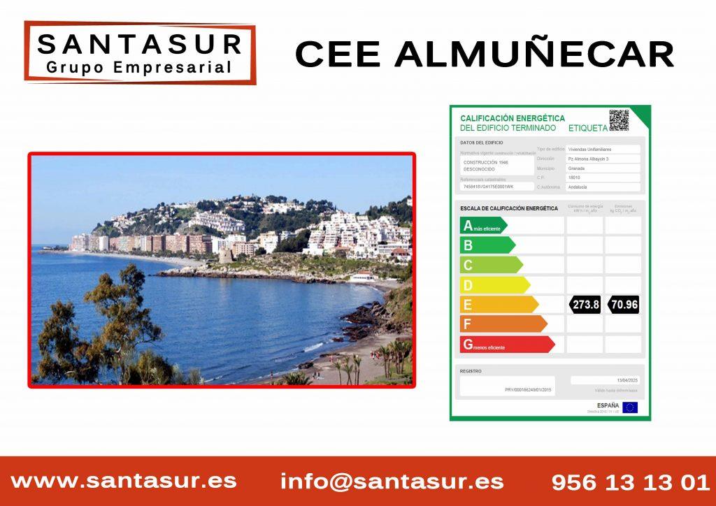Certificado Energético Almuñecar Granada al Mejor Precio