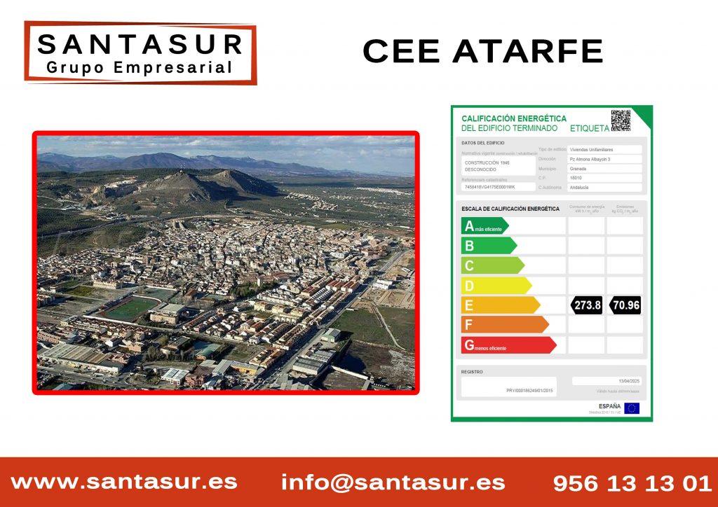 Certificado Energético atarfe Granada al Mejor Precio
