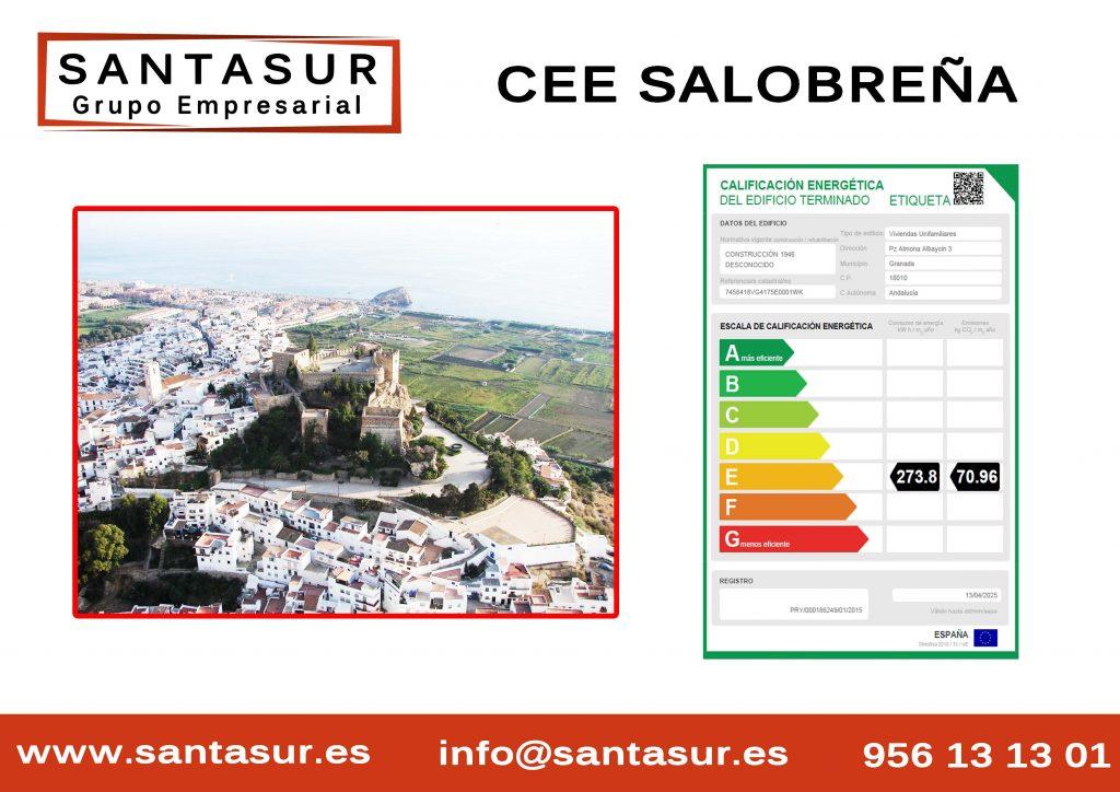 Certificado Energético salobreña Granada al Mejor Precio