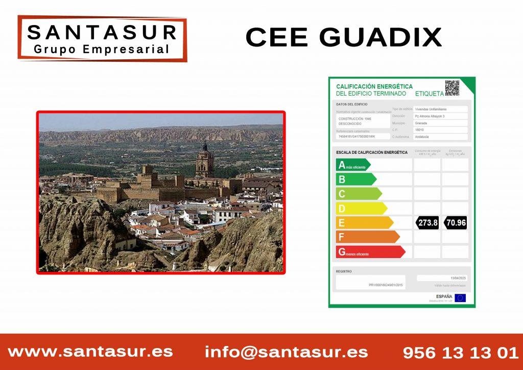 Certificado Energético Guadix Granada al Mejor Precio