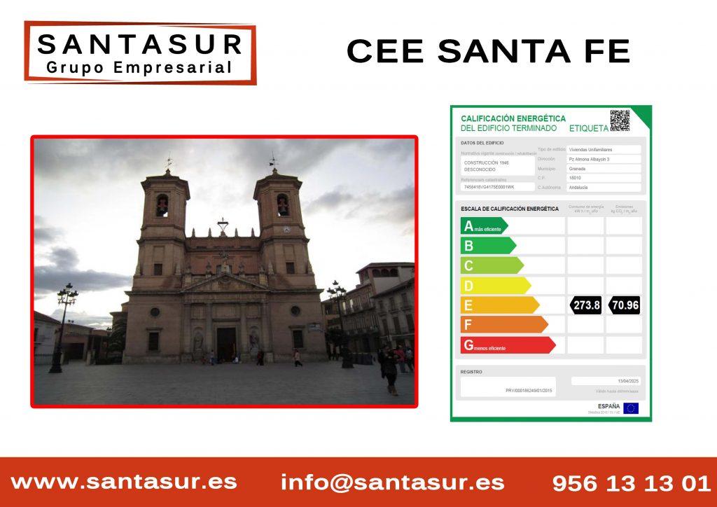 Certificado Energético santa fe Granada al Mejor Precio
