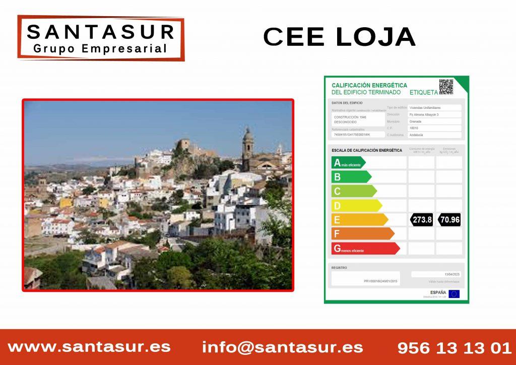 Certificado Energético Almuñecar Loja al Mejor Precio