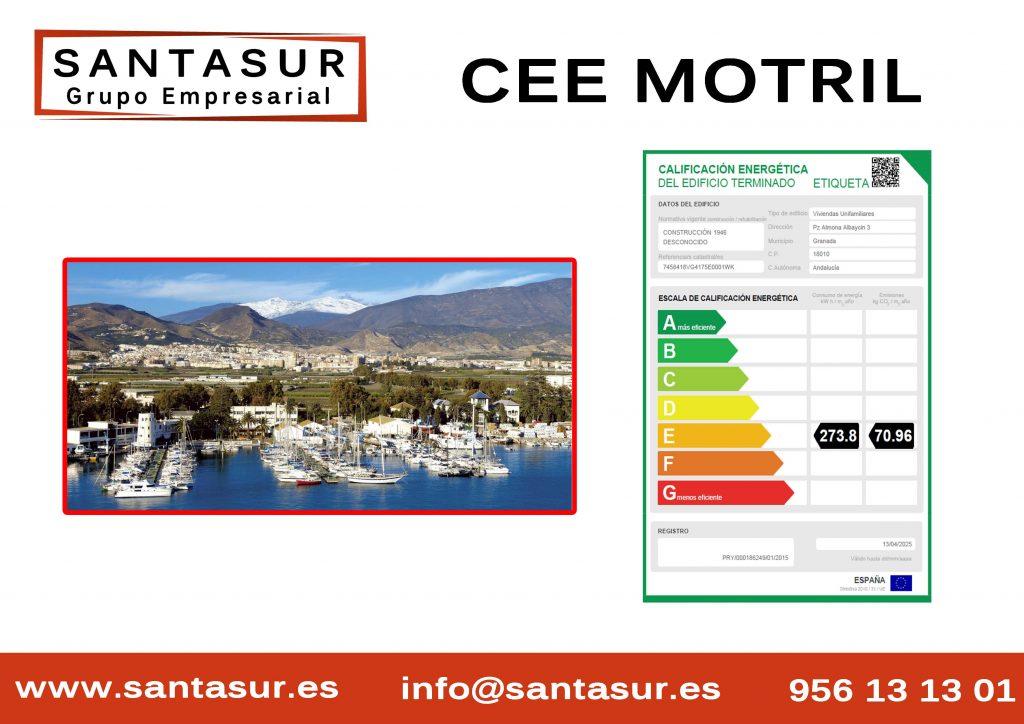 Certificado Energético Motril al Mejor Precio